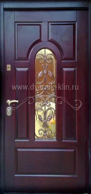стальная дверь со стеклом с завода