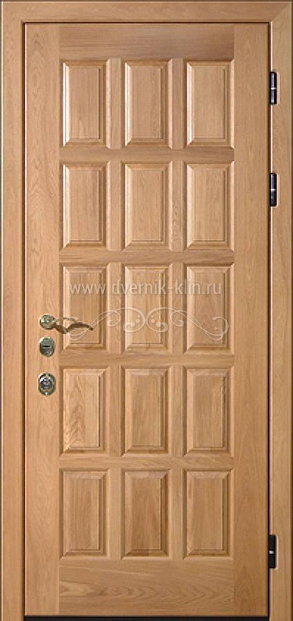 двери входные массив дуба филенка