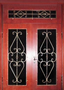 входная дверь с ковкой и стеклопакетом москва